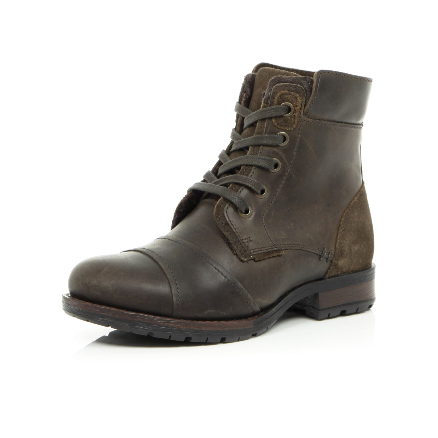 River Island Boys Brown Worker Boots - Lyst