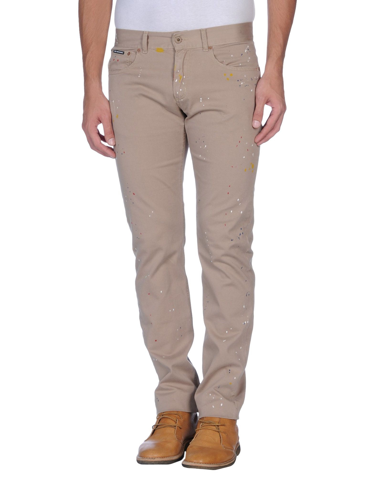 love moschino casual trouser in beige for men sand lyst. Black Bedroom Furniture Sets. Home Design Ideas