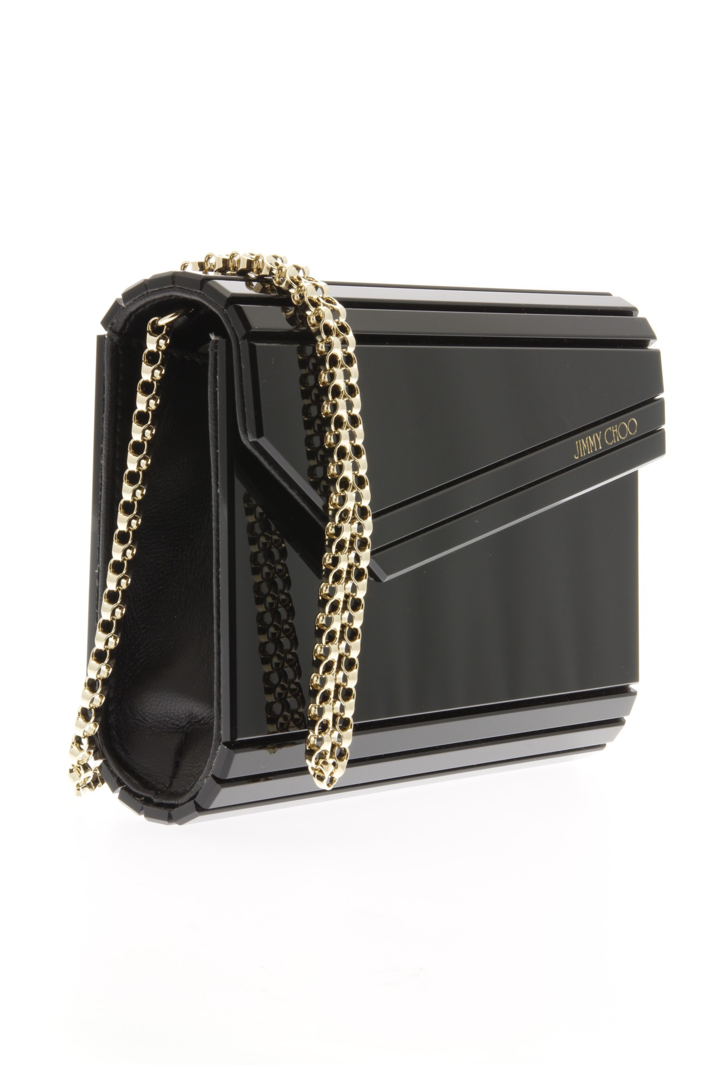 jimmy choo candy acrylic clutch bag in black lyst. Black Bedroom Furniture Sets. Home Design Ideas
