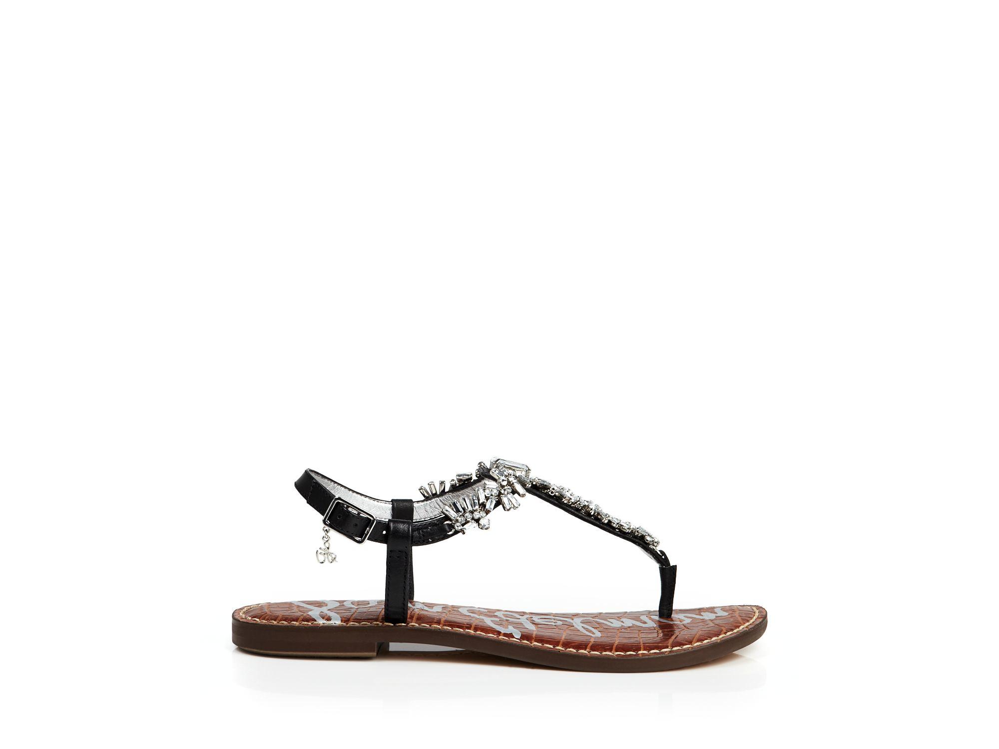 f25c89abc Sam Edelman Flat Thong Sandals - Georgie in Black - Lyst