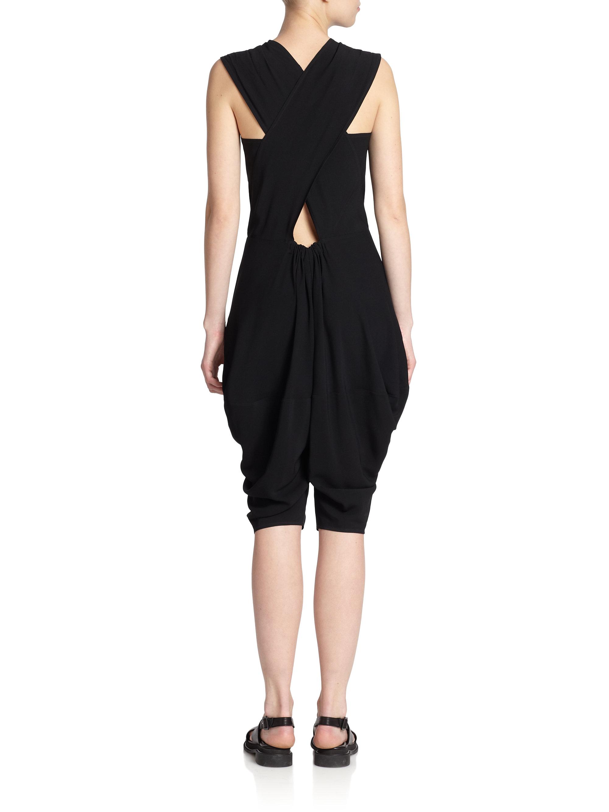d6a95af5b08 Lyst - Zero + Maria Cornejo Cata Draped Jumpsuit in Black