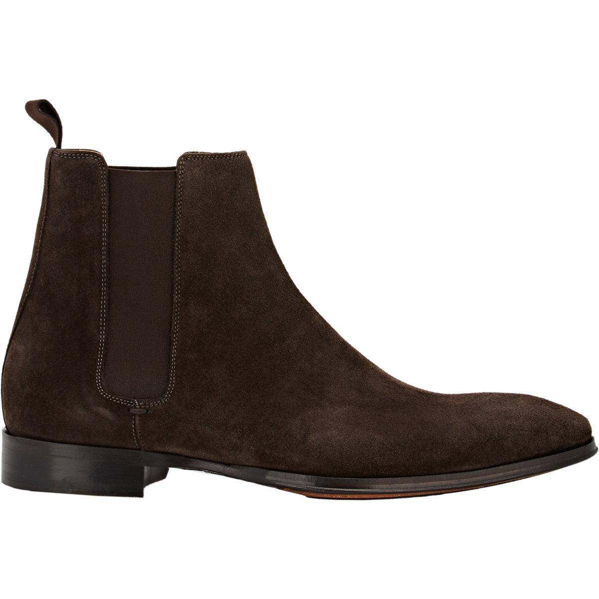 barneys new york suede chelsea boots in brown for men lyst. Black Bedroom Furniture Sets. Home Design Ideas