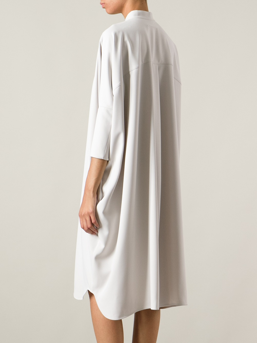 Lyst mm6 by maison martin margiela poli oversize dress for Mm6 maison margiela
