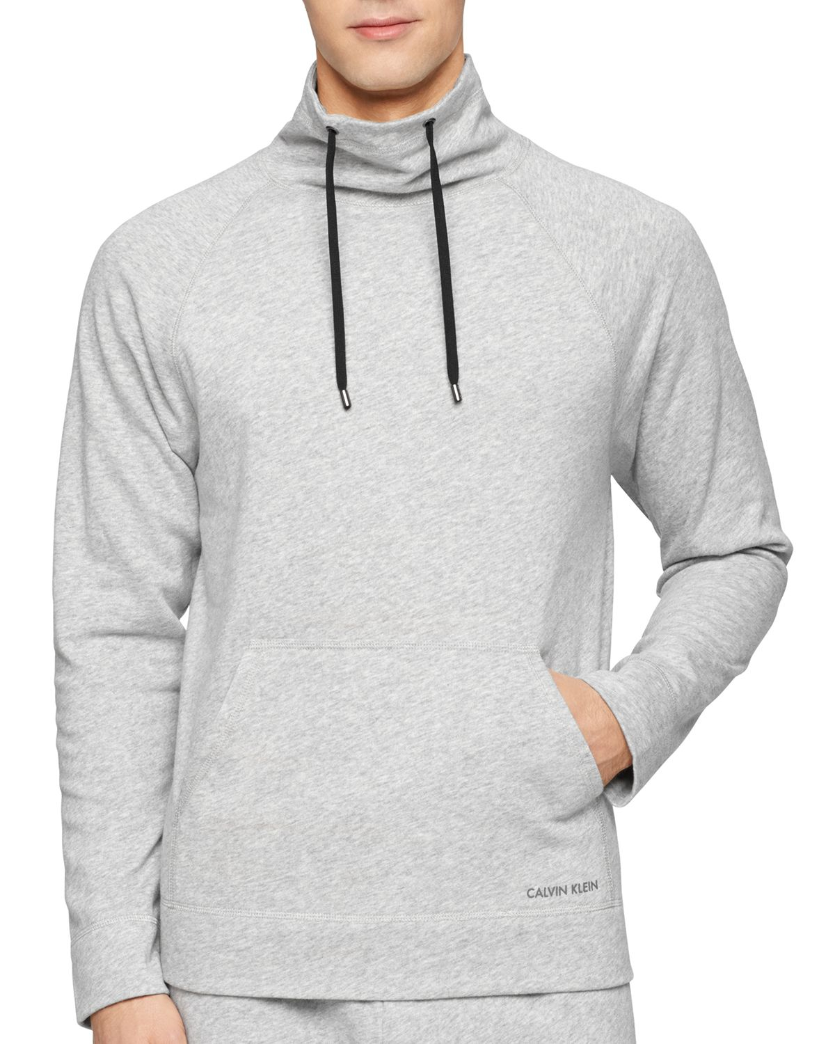 calvin klein pullover top in gray for men lyst. Black Bedroom Furniture Sets. Home Design Ideas