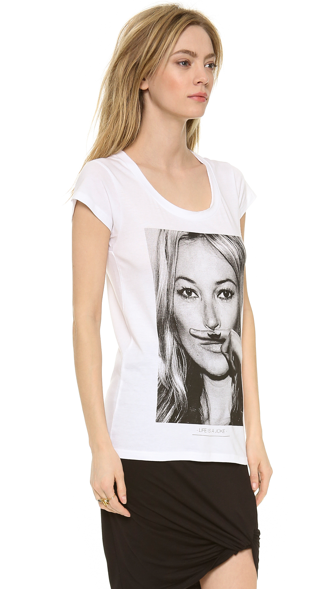 eleven paris kate moss tee in white lyst. Black Bedroom Furniture Sets. Home Design Ideas