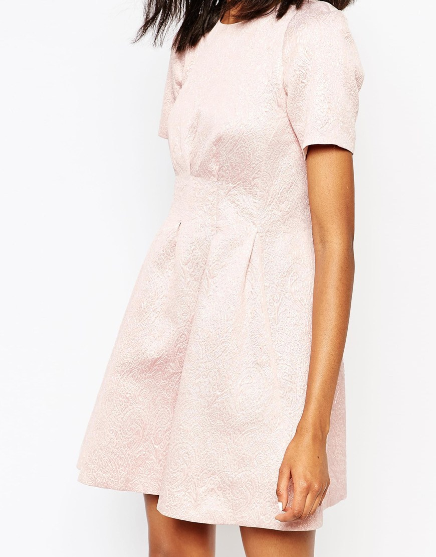 paul joe paul and joe sister pimprenel jacquard dress in pink lyst. Black Bedroom Furniture Sets. Home Design Ideas