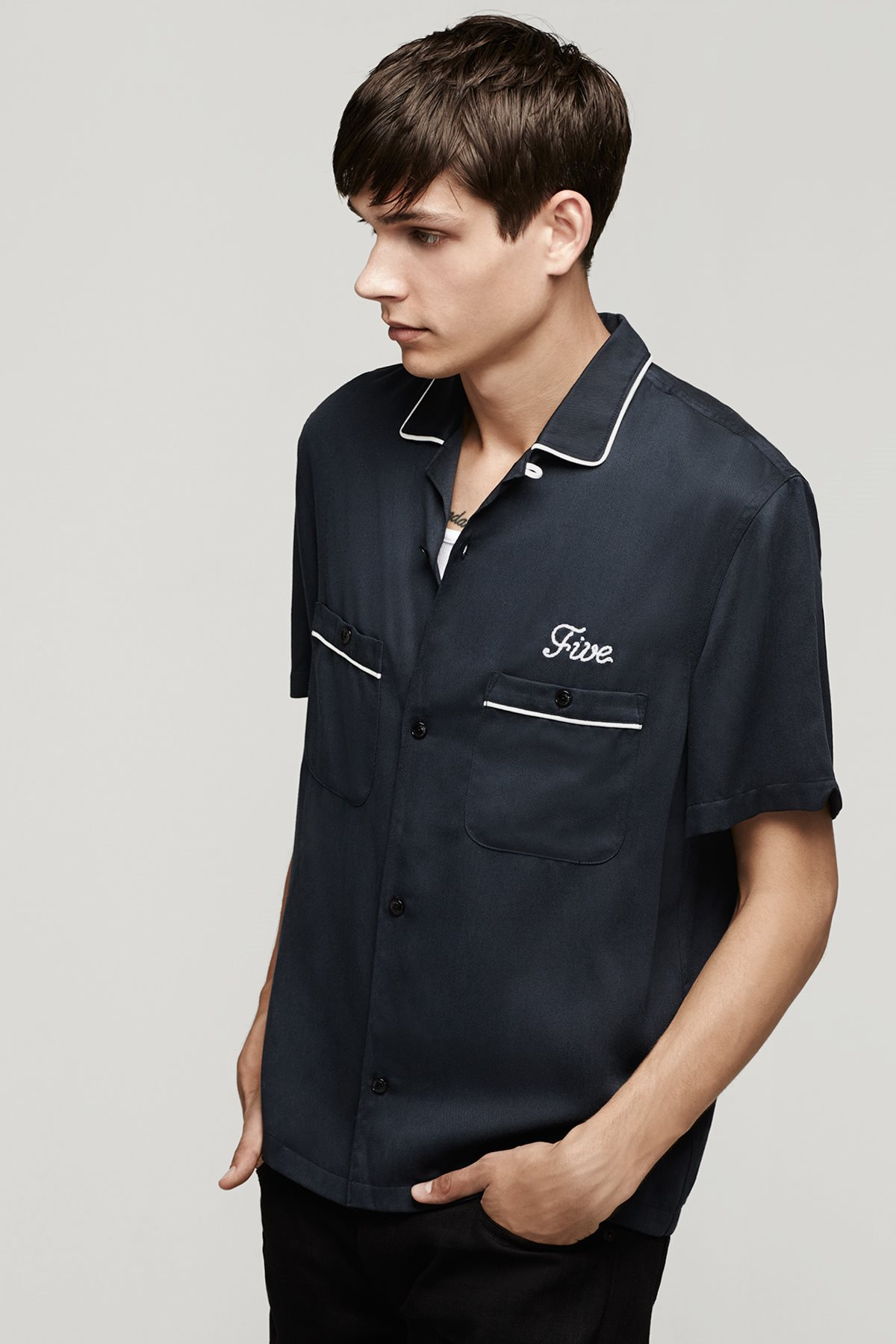 saint laurent bowling shirt