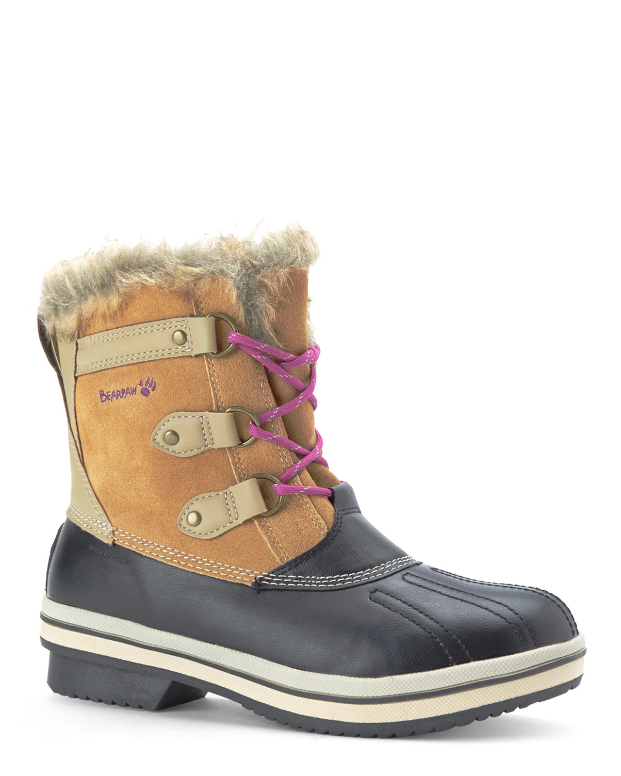 81d75ad7c72 Lyst - BEARPAW Hickory & Black Wallowa Boots in Brown