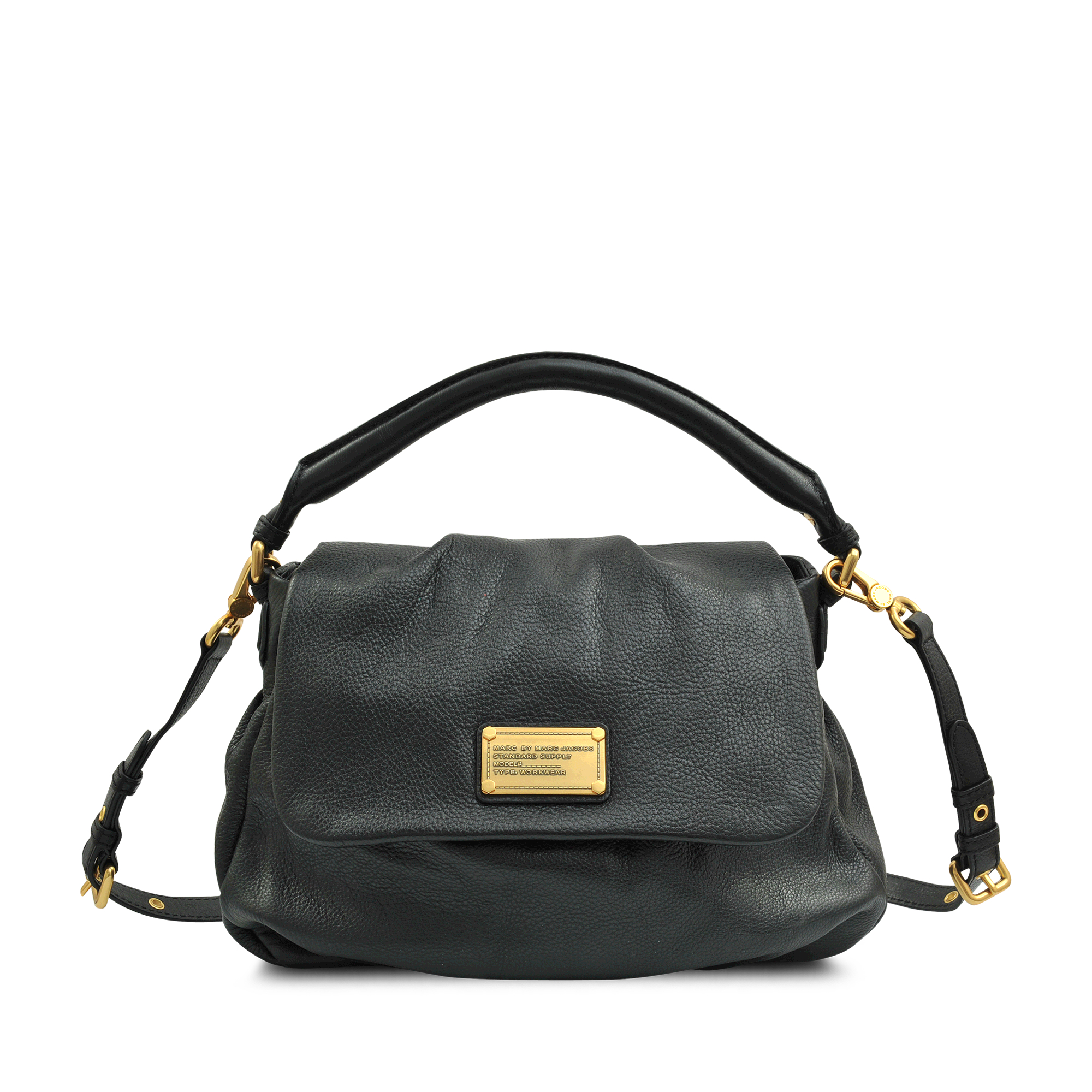 marc by marc jacobs lil ukita classic q hobo bag in black lyst