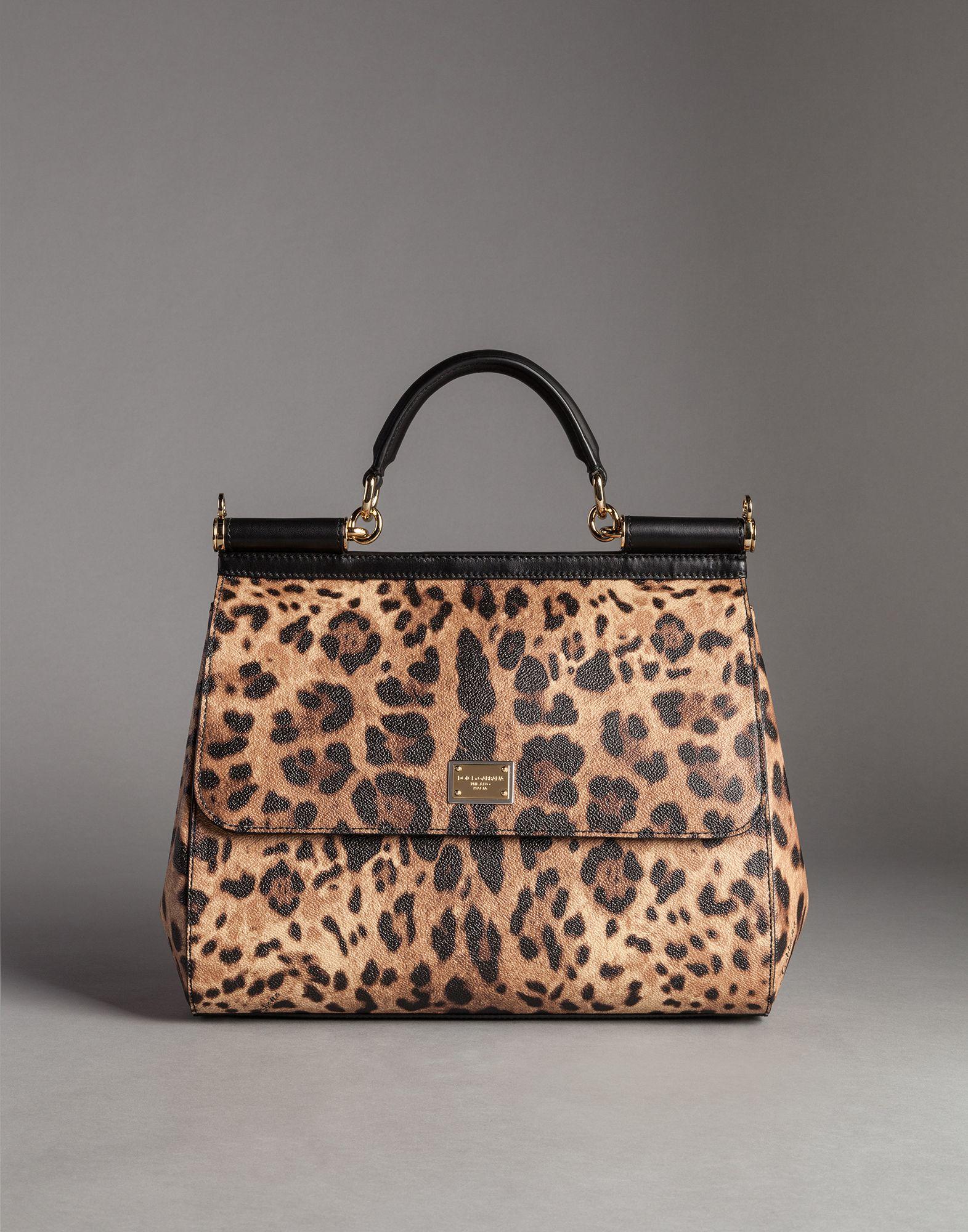 c9e6a9faca5 Lyst - Dolce   Gabbana Sicily Leopard-Print Tote in Brown