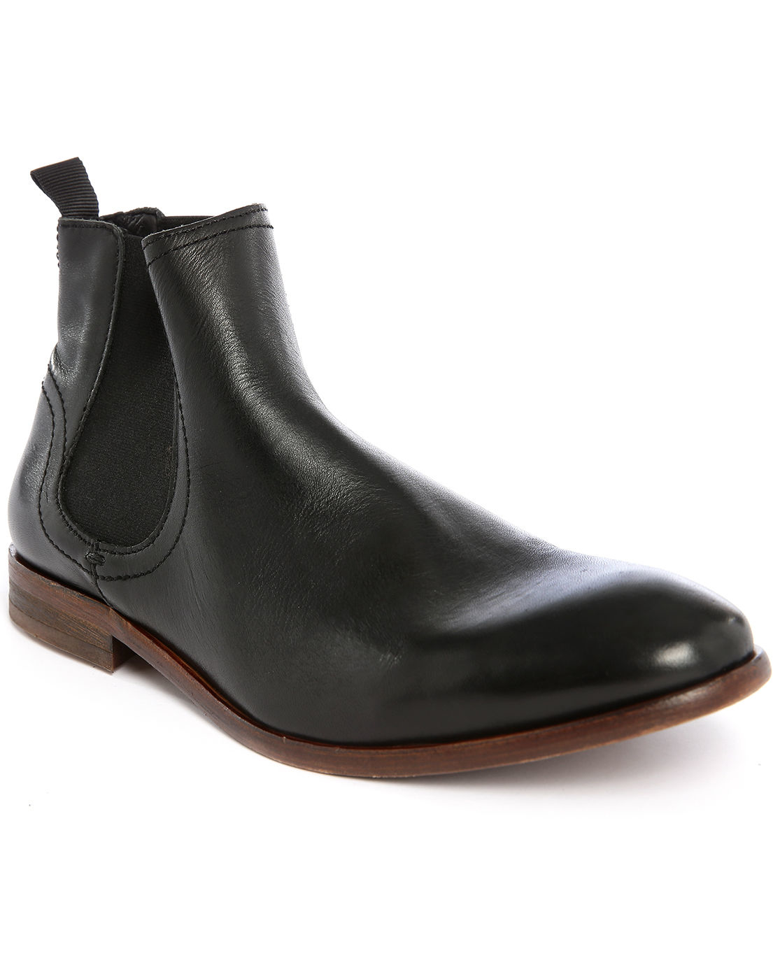 hudson patterson leather chelsea boots in black for