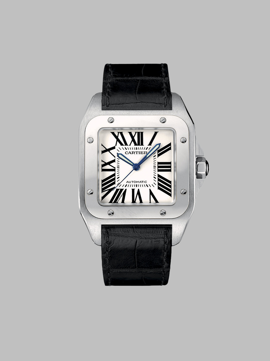 Lyst Cartier Santos 100 Automatic Large Stainless Steel