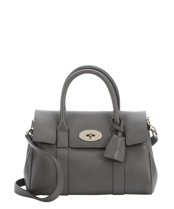 Mulberry Chamomile Leather 'Bayswater' Small Satchel Bag in Gray ...