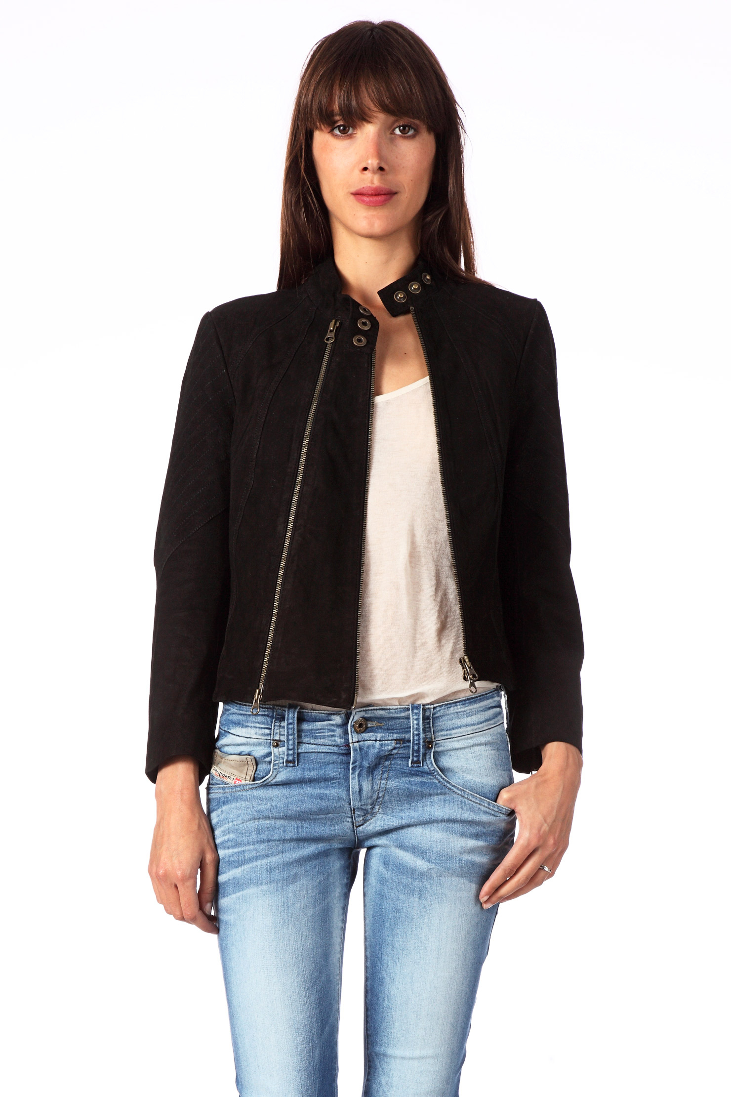 vero moda very leather coleen leather jacket hs11 in black lyst. Black Bedroom Furniture Sets. Home Design Ideas