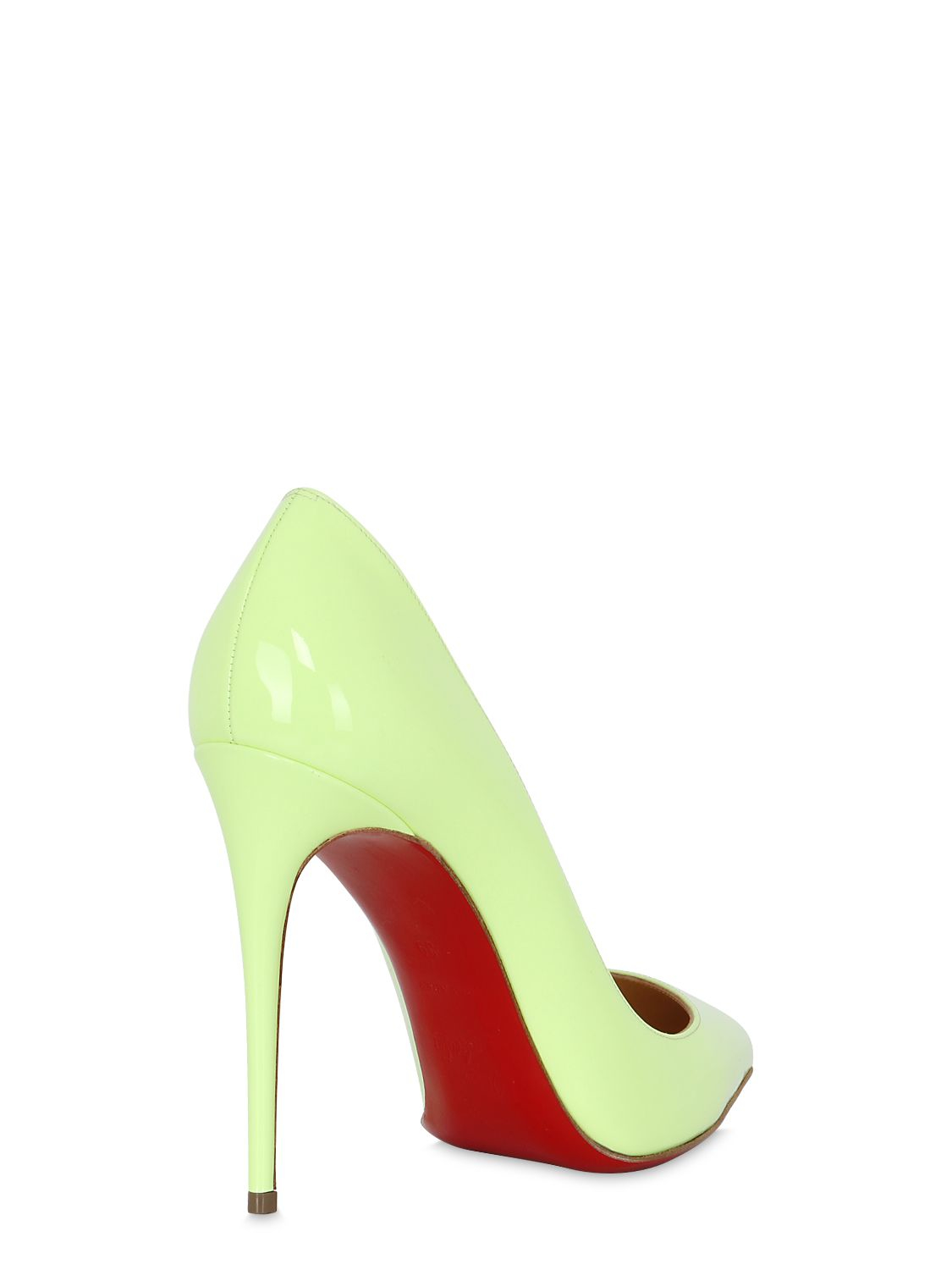 b192f53edd23 ... coupon christian louboutin pigalle follies patent leather pumps in  green lyst a7c1f adb53