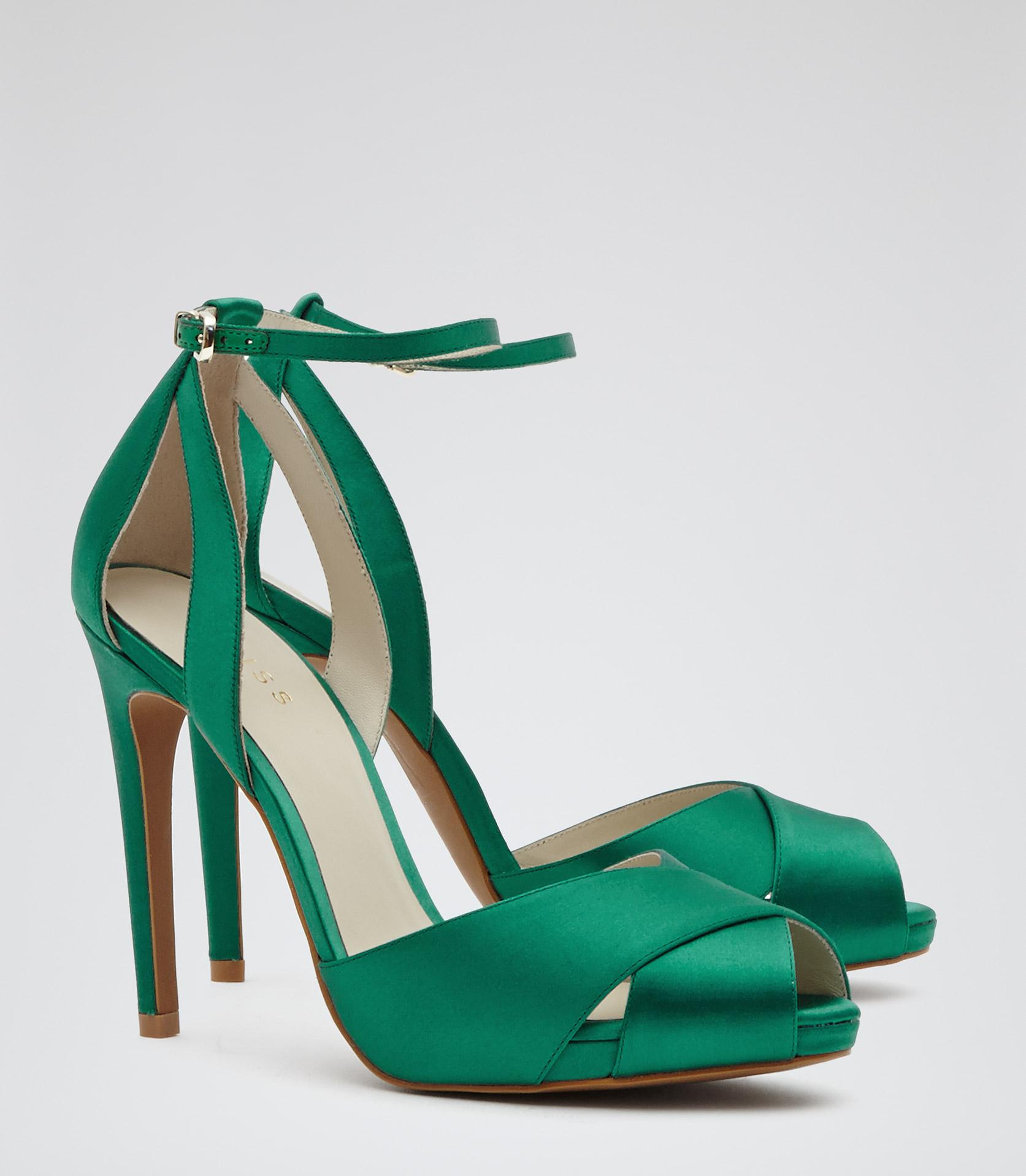 Green Strappy Sandals Heels - Is Heel