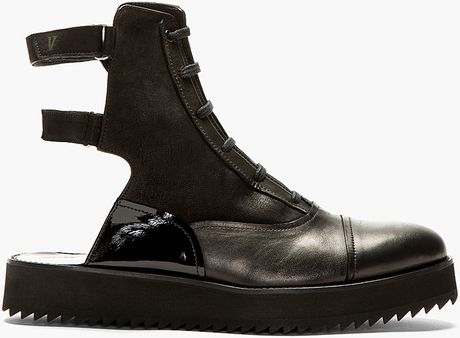 v ave shoe repair black leather handmade jet boots in