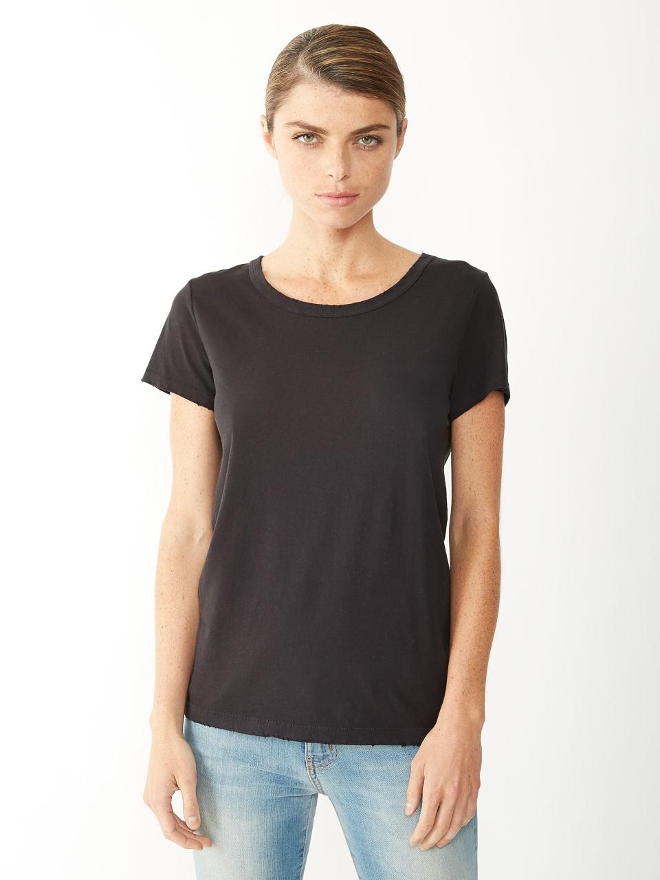 alternative apparel vintage distressed t shirt in gray lyst