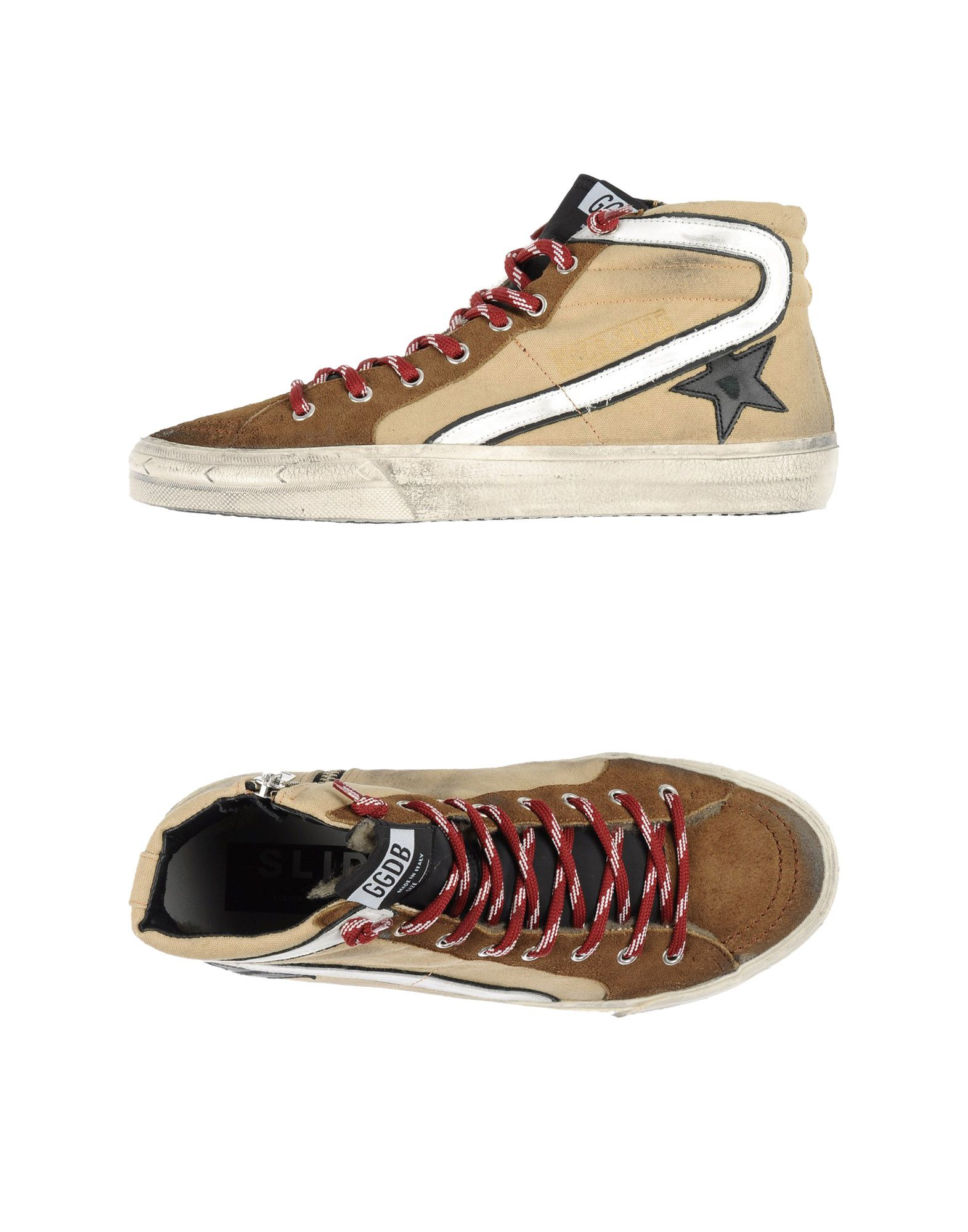 golden goose deluxe brand high tops trainers in natural for men lyst. Black Bedroom Furniture Sets. Home Design Ideas