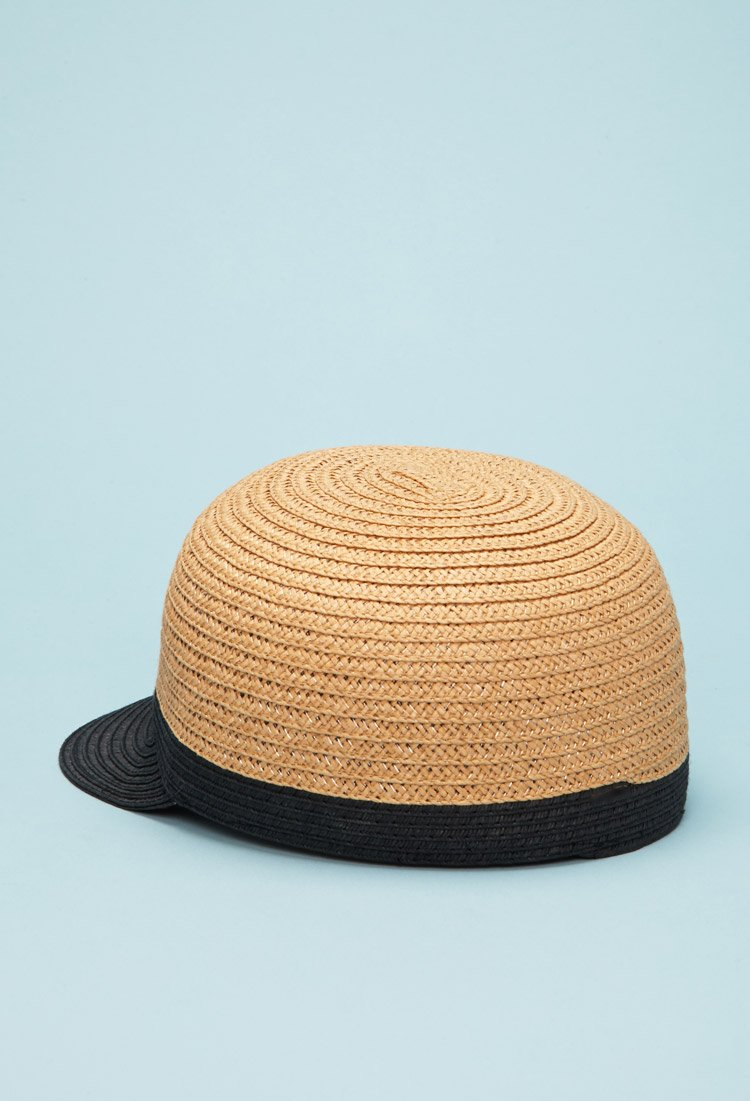 forever 21 straw baseball hat in lyst