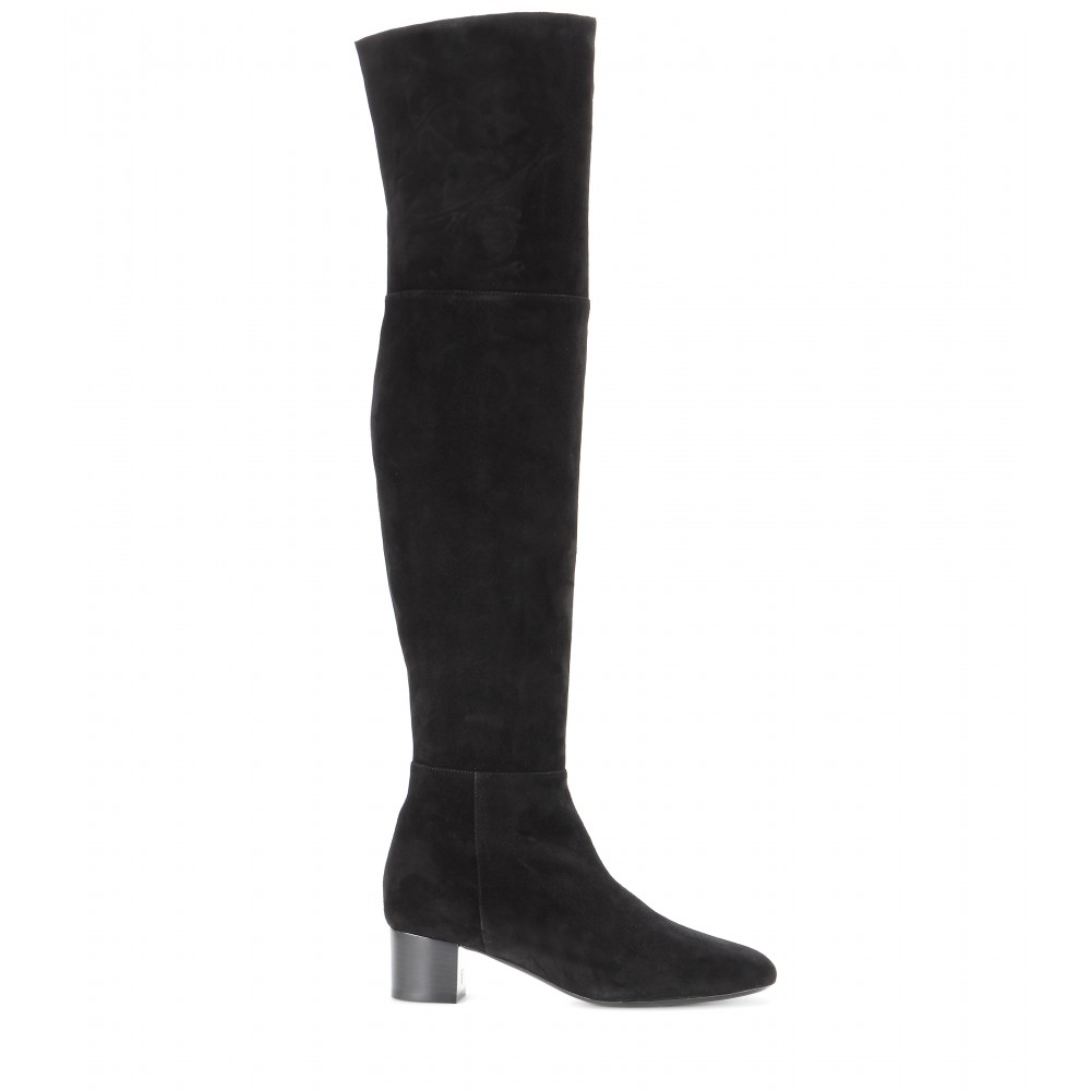 a9a46c3c735d6 Tom Ford Suede Over-the-knee Boots in Black - Lyst