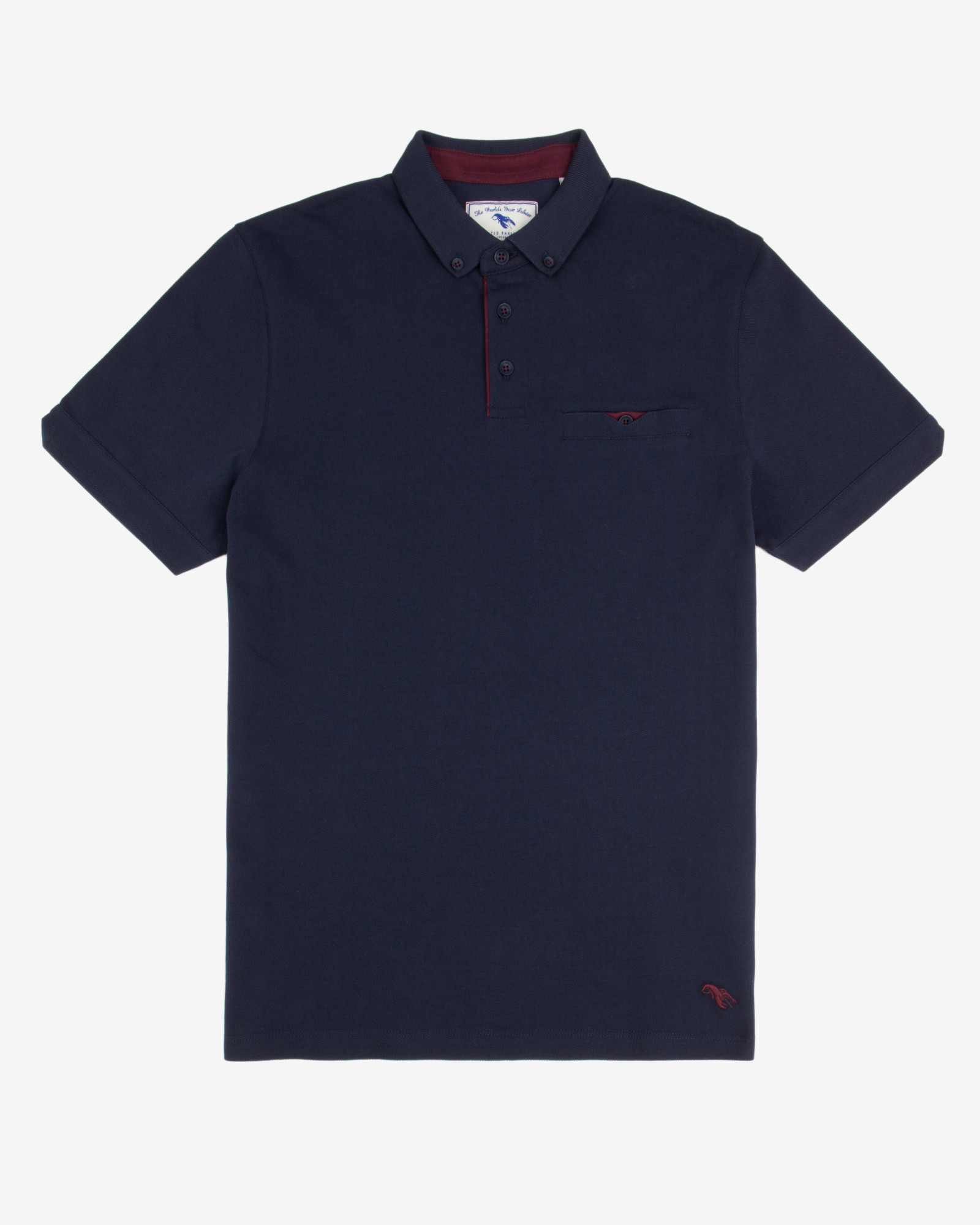 Ted baker cotton swim polo shirt in blue for men navy lyst for Ted baker mens polo shirts