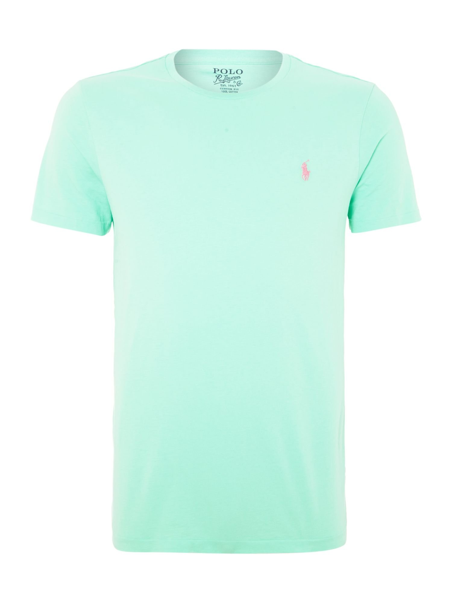 Polo ralph lauren classic custom fit tshirt in blue for for Mint color polo shirt