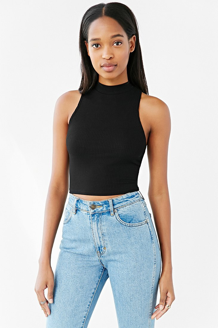 A crop top (also cropped top, belly shirt, half shirt, midriff shirt, midriff top, tummy top, short shirt, and cutoff shirt) is a top, the lower part of which is high enough to expose the waist, navel, or .