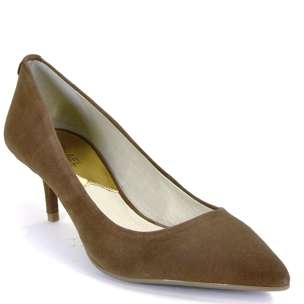 Michael michael kors Kitten Heel Pump in Brown | Lyst