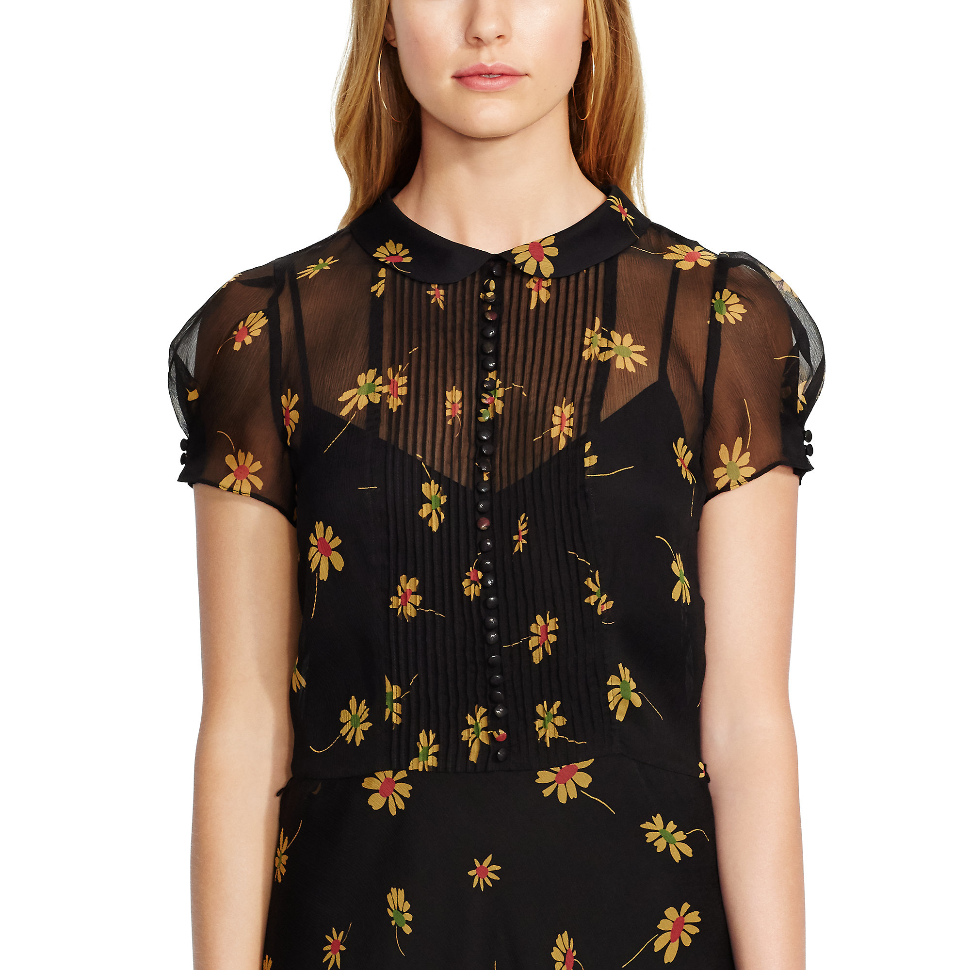 5cf69ba64c ... new zealand lyst polo ralph lauren floral print silk dress in black  c69de 559a3
