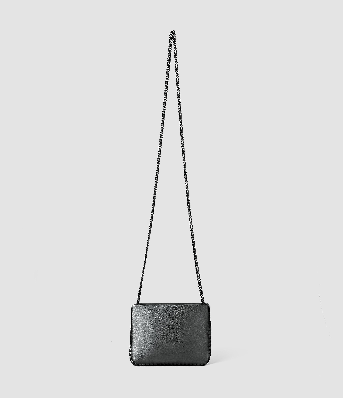AllSaints Club Mini Crossbody in Grey
