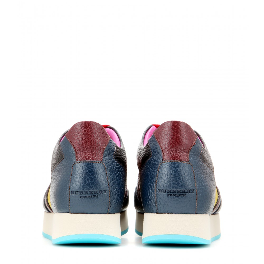 Burberry Prorsum The Field Leather Sneakers