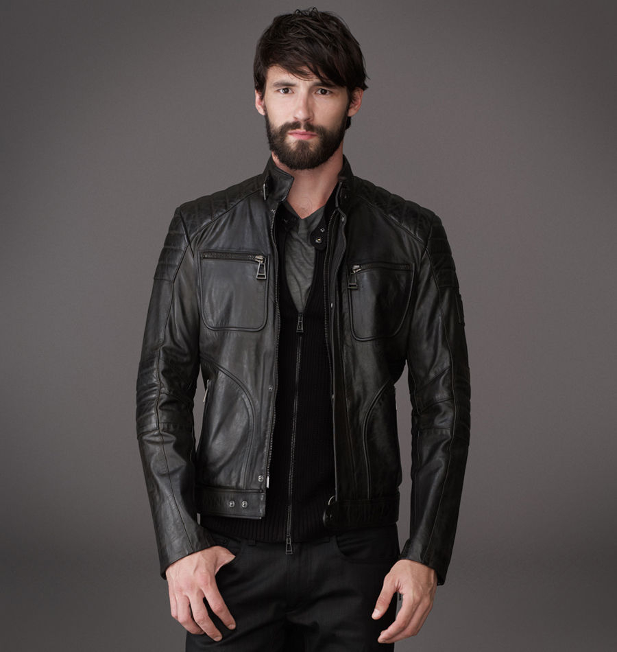 Belstaff Weybridge Jacket In Signature Hand Waxed Leather