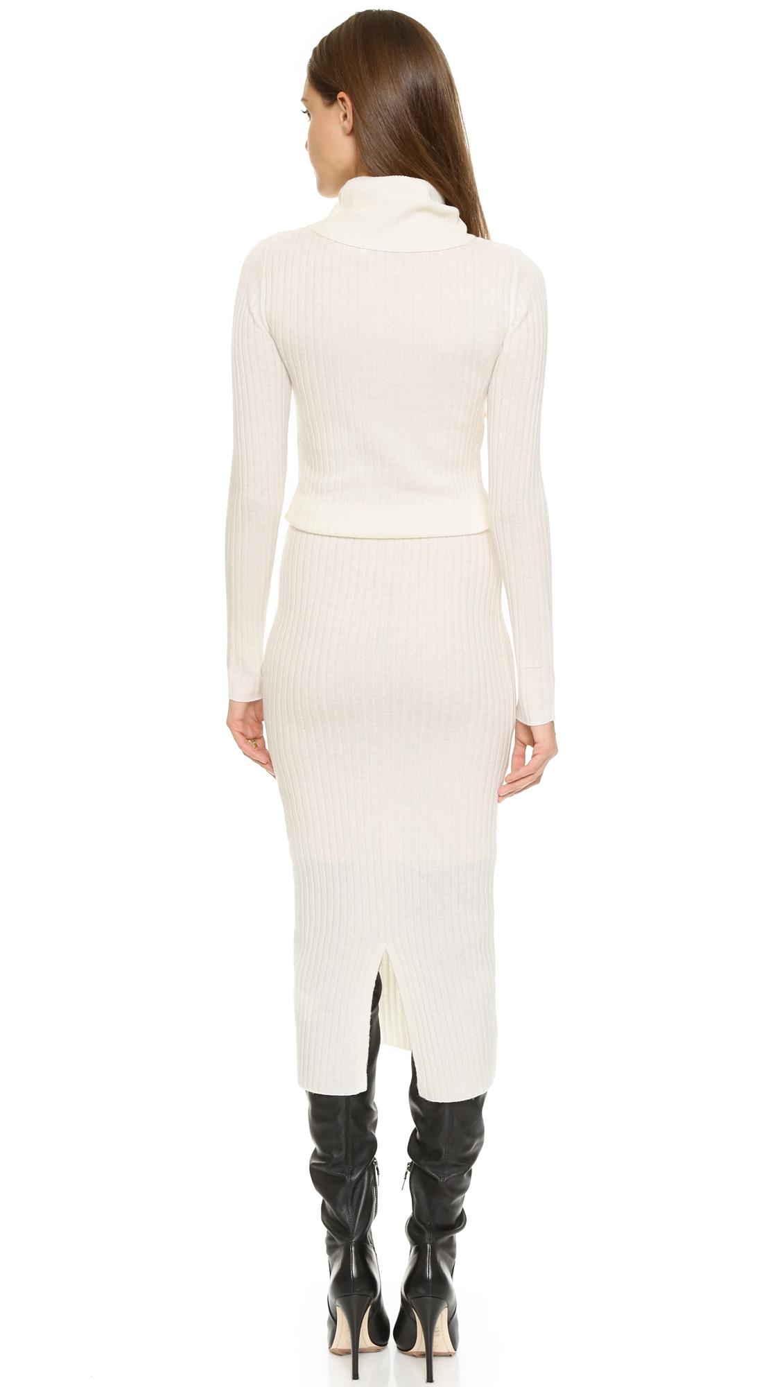 Lyst Alice Olivia Hailee Turtleneck Sweater Dress