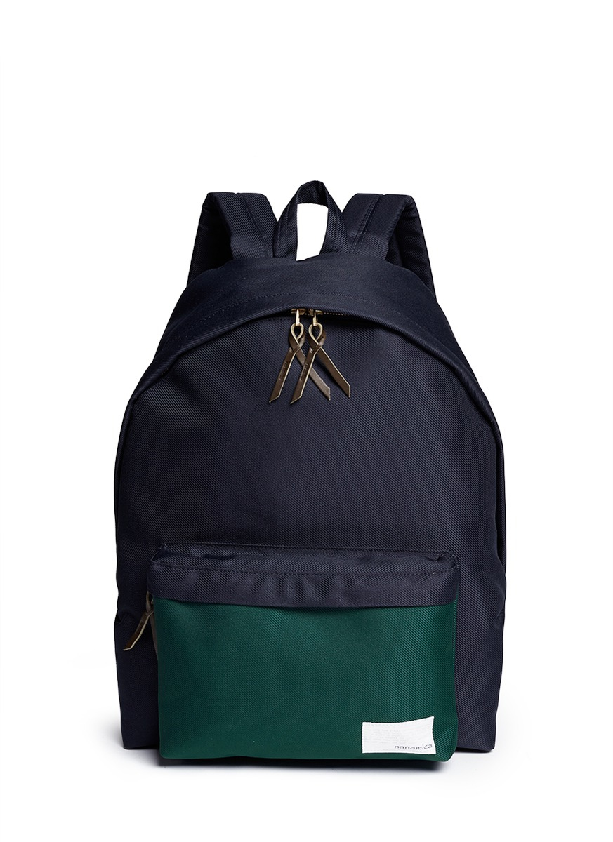Nanamica cordura 174 twill cycling backpack in green for men blue - Nanamica Cordura 174 Twill Cycling Backpack In Green For Men Blue Gallery