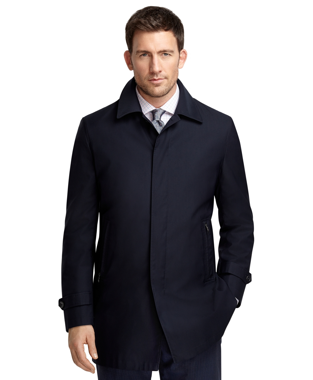 Brooks Brothers Brooksstorm Commuter Coat in Blue for Men ...