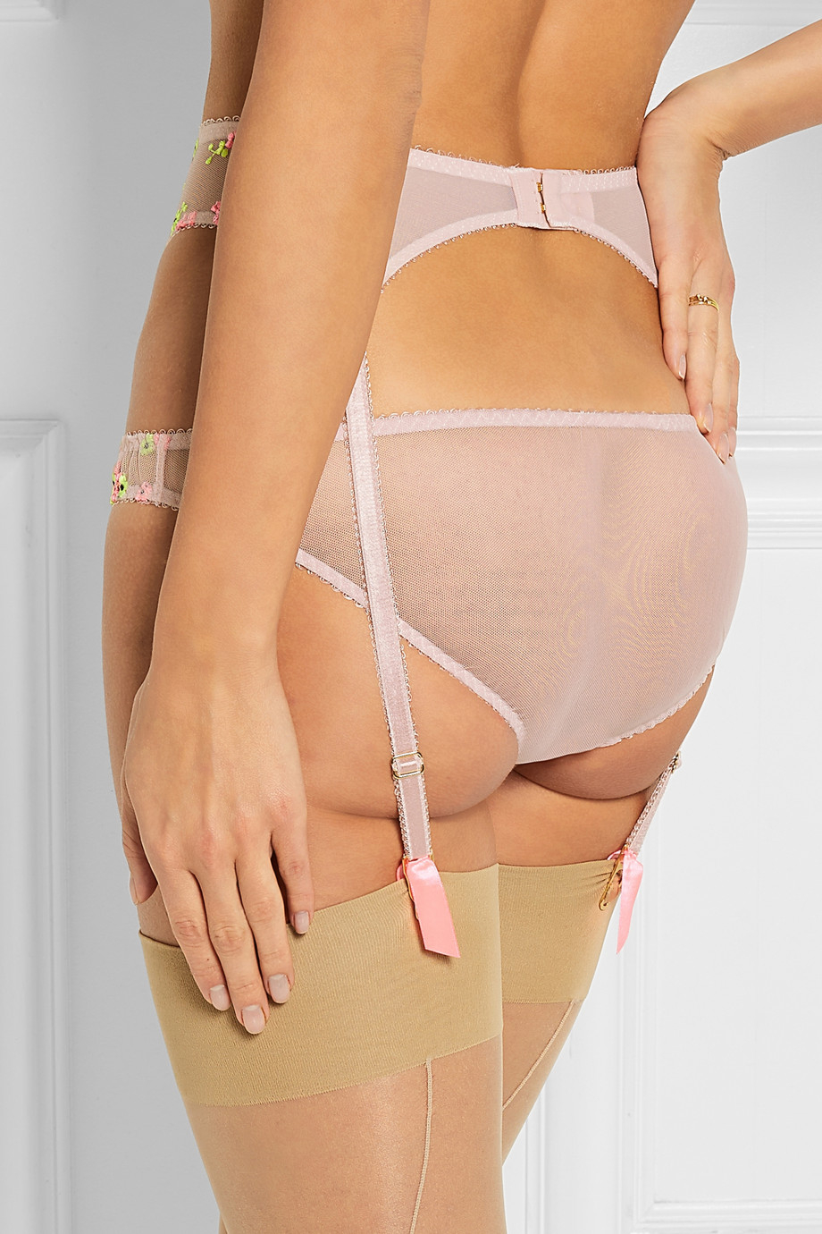 6e95d844c5 Lyst - L Agent by Agent Provocateur Clementina Embroidered Stretch ...