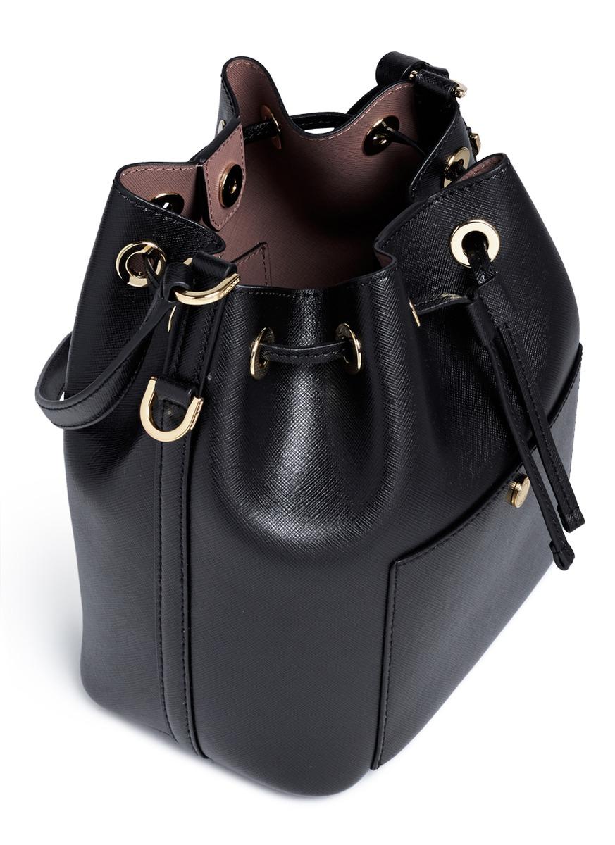 ... germany lyst michael kors greenwich saffiano leather bucket bag in black  b0f8d 8a663 ... b63dd5d6da