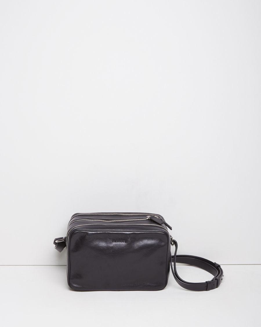 Jil Sander Leather Reporter Bag In Blue Lyst