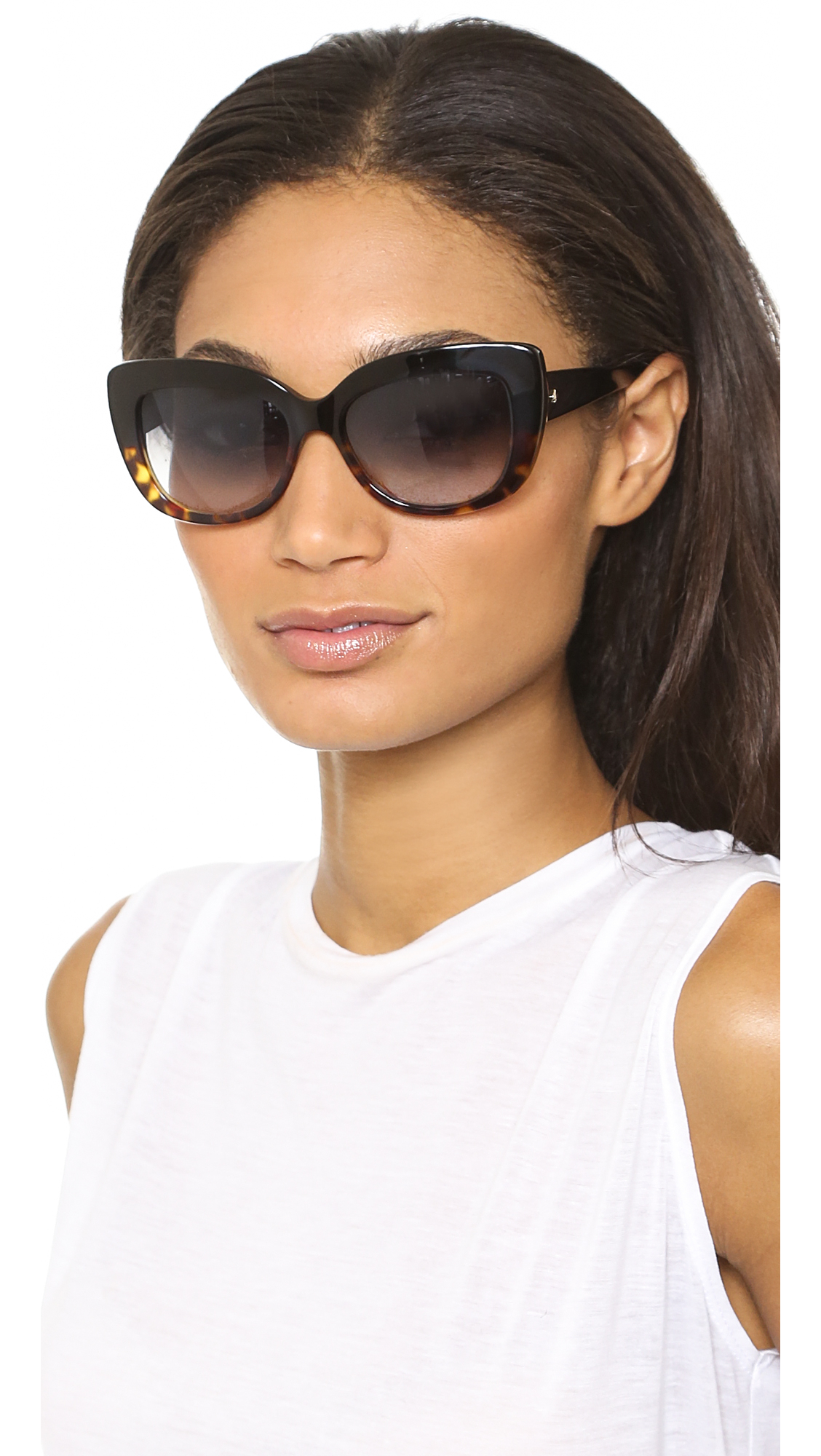 ab786382c18 Lyst - Kate Spade Ursula Sunglasses - Black Tortoise Fade Grey