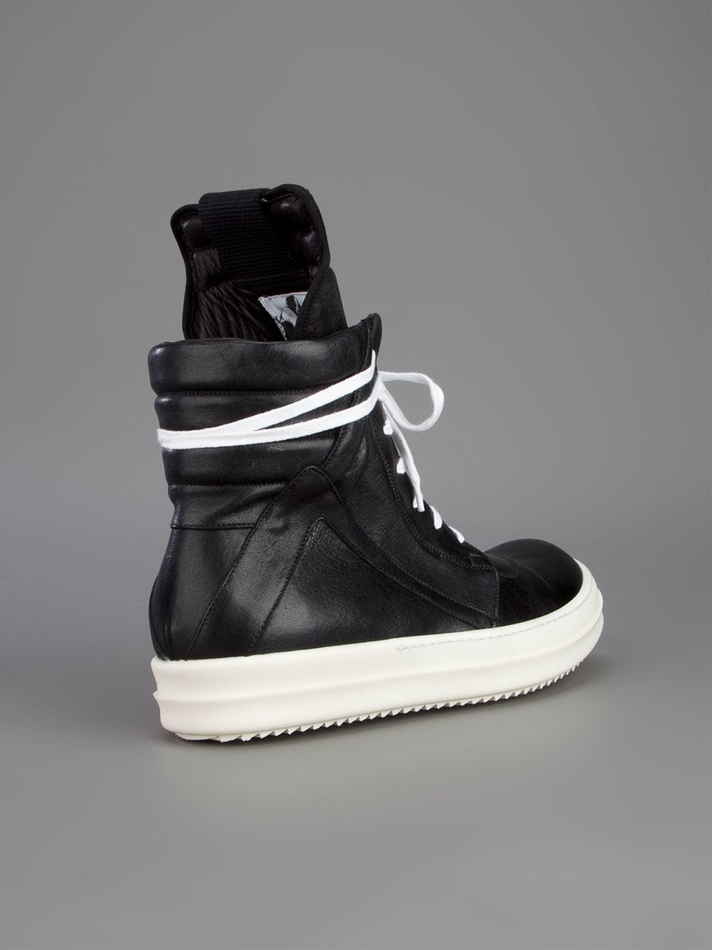 Rick Owens Geo Basket Sneaker in Black