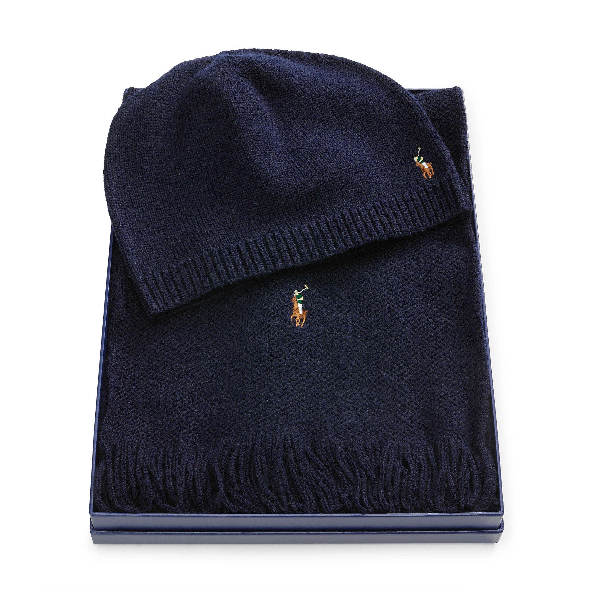 48625ae03210b ... coupon code for polo ralph lauren wool hat scarf gift set in blue for  men lyst