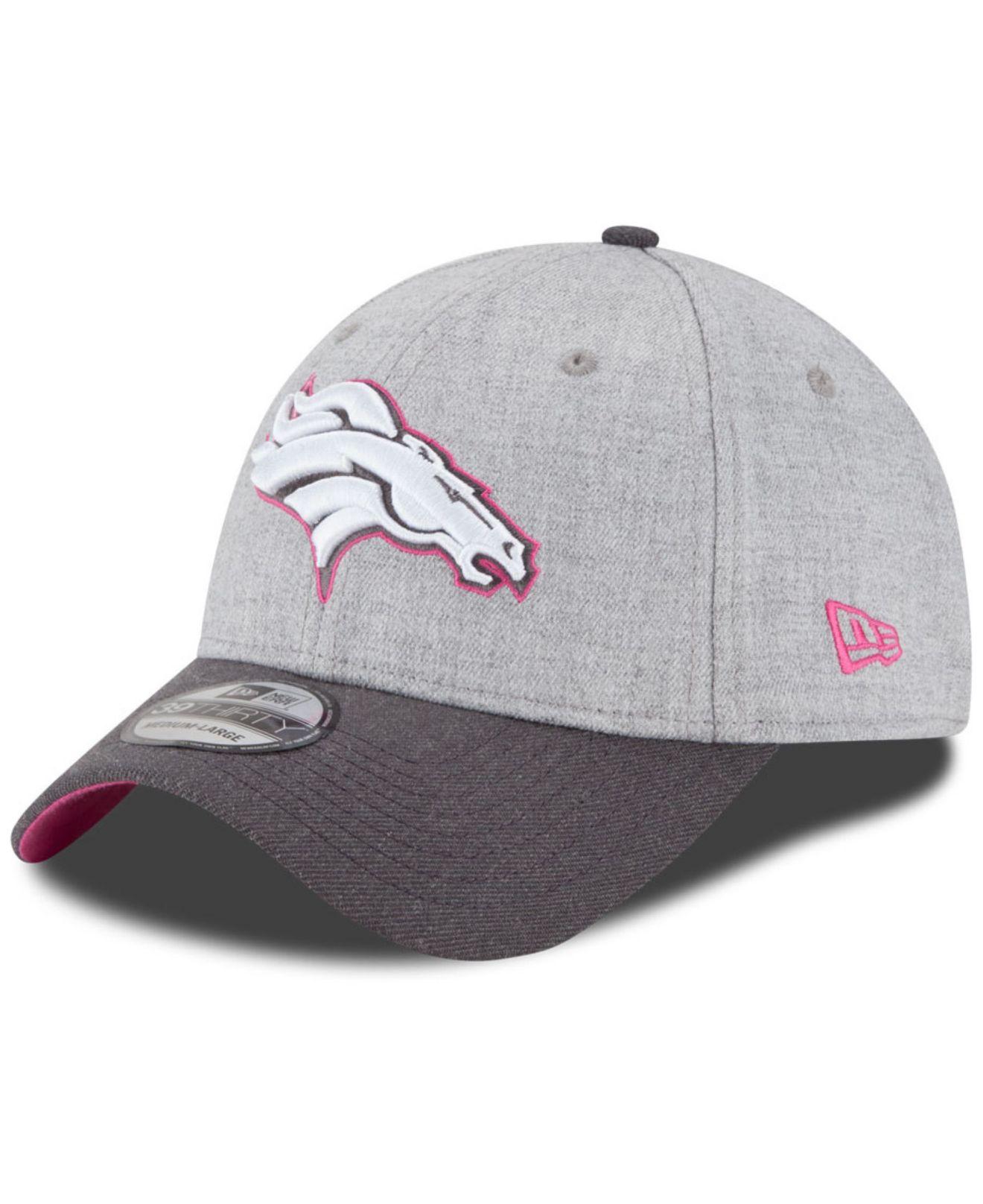 quality design 59d5d e9881 Women's Gray Denver Broncos Breast Cancer Awareness 39thirty Cap