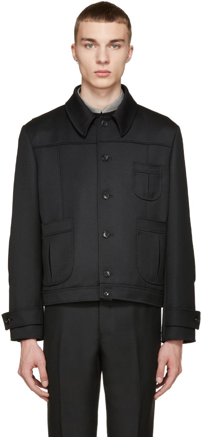 Thom browne Black Wool Twill Jacket in Black for Men | Lyst