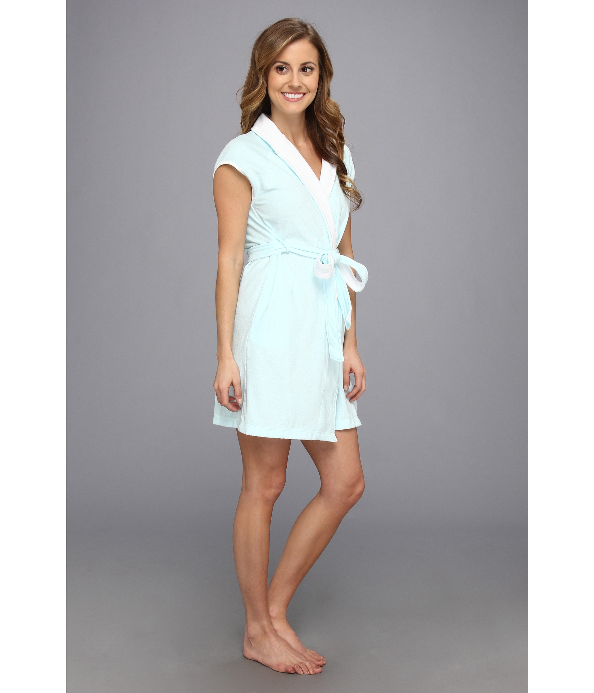 Lyst - Betsey Johnson Baby Terry Wifey Bridal Robe in Blue b0fe004af