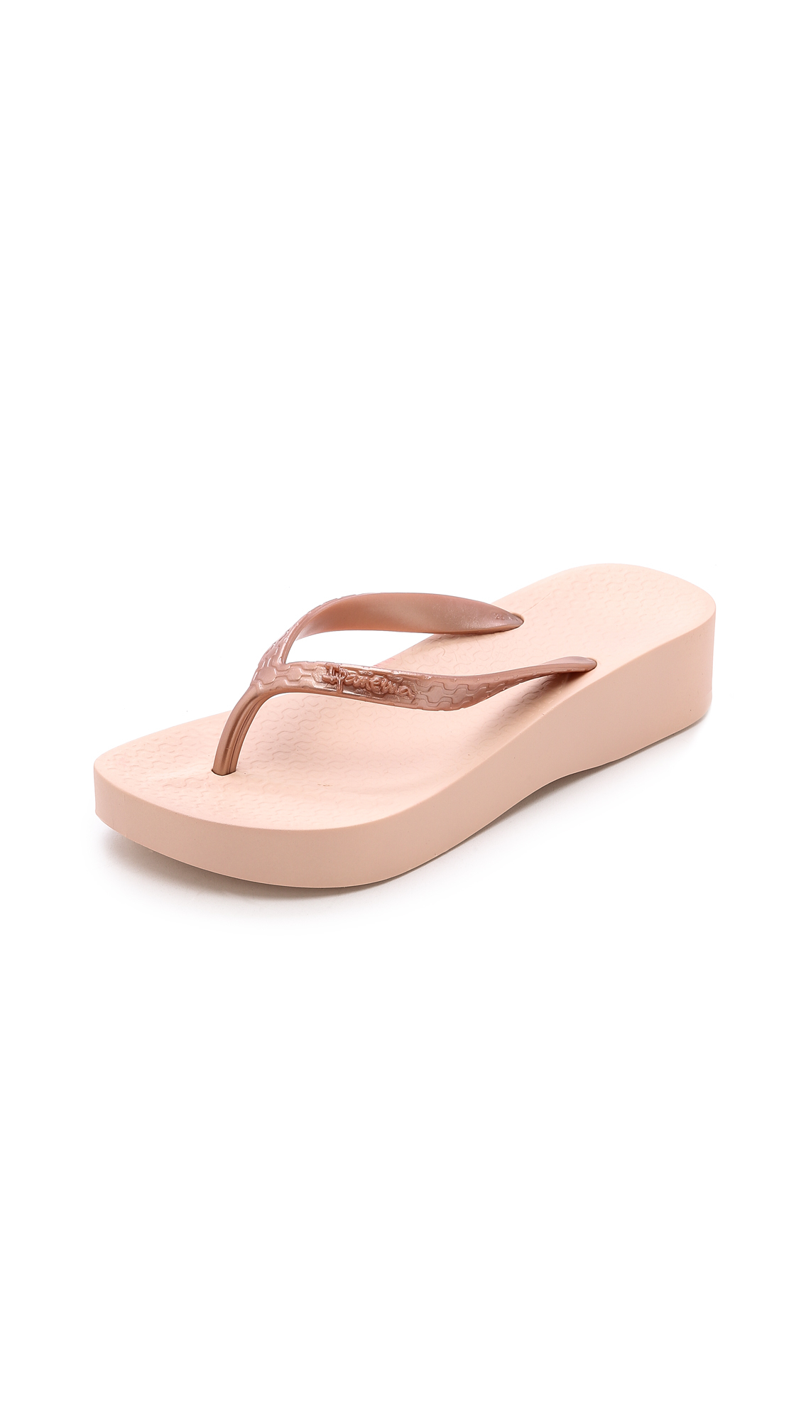 6076b124d79 Lyst - Ipanema Tropical Wedge Flip Flops - Rose Gold in Pink