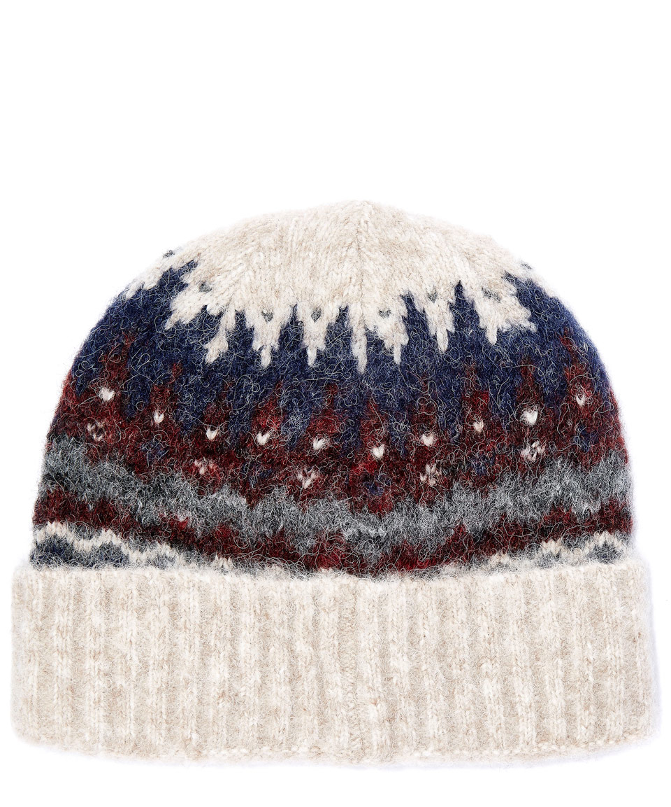 Lyst - Norse Projects Cream Fairisle Alpaca-blend Beanie Hat in ... 8444cb8215c