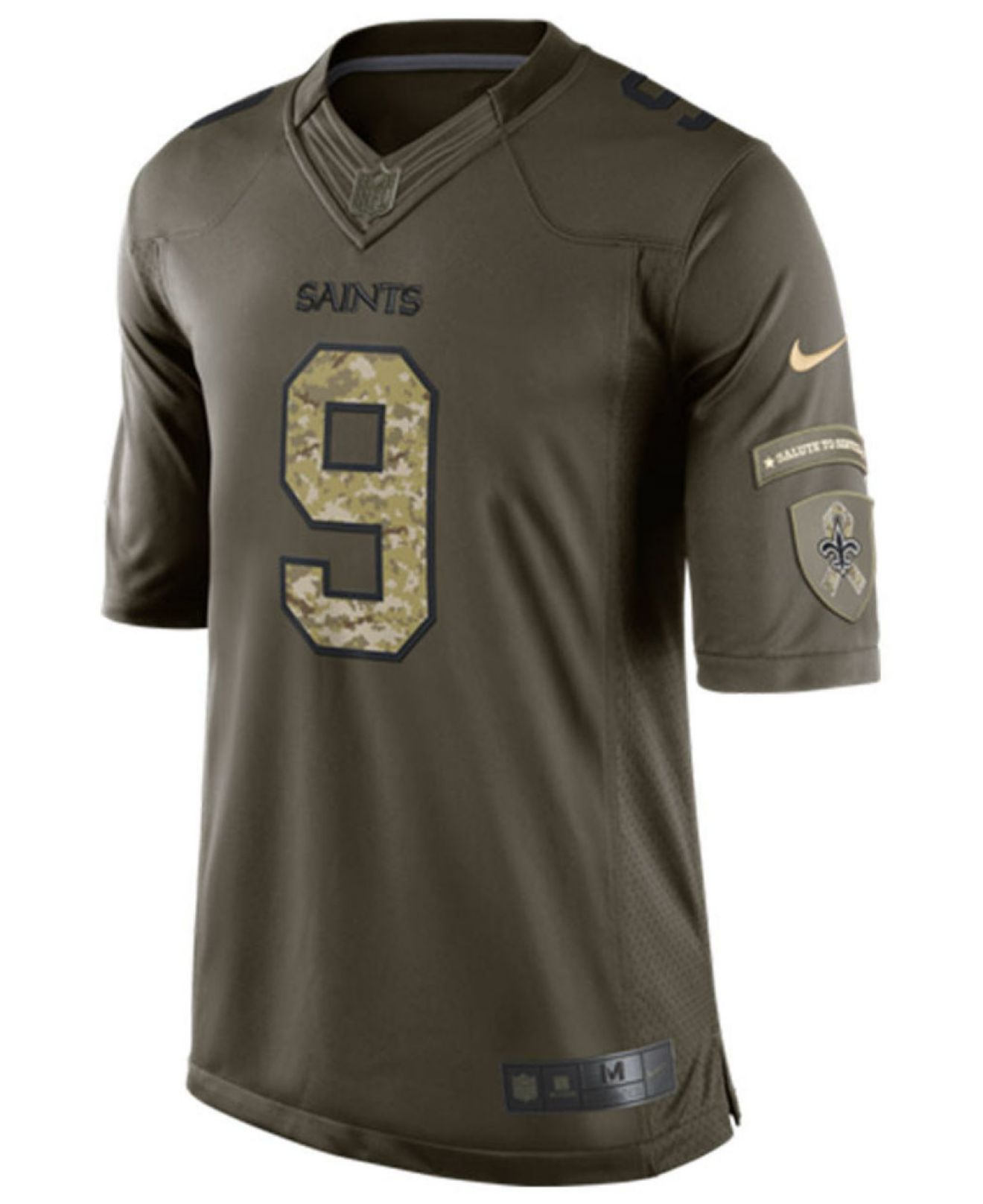 New Orleans Jersey Saints For Green Brees Men Service Salute Drew Nike Men's To|The Saints' Super Bowl Victory