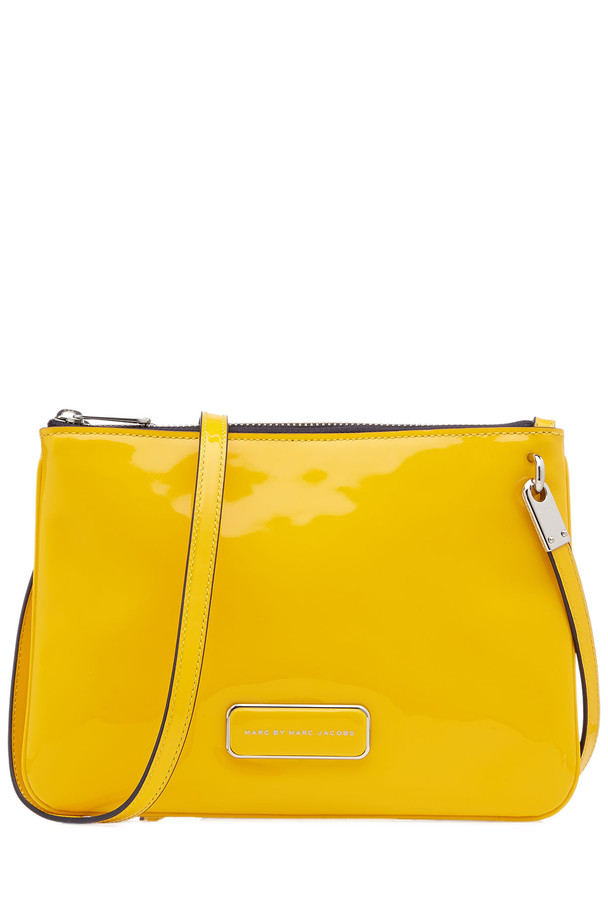 Marc by marc jacobs Double Percy Patent Leather Shoulder Bag ...