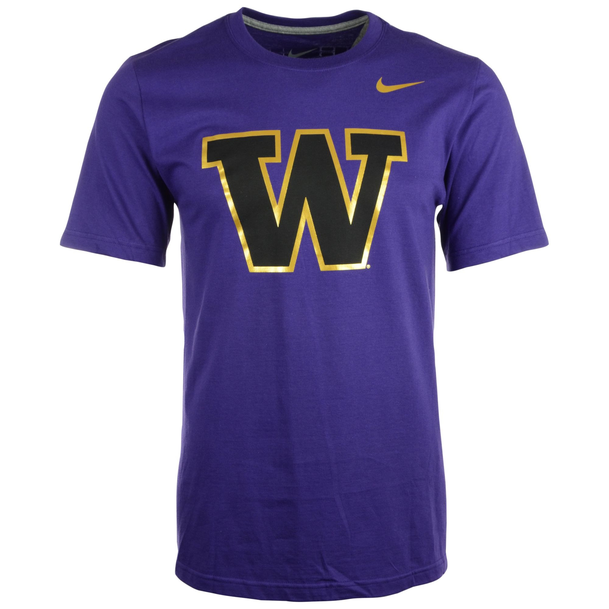 Nike Mens Shortsleeve Washington Huskies Tshirt In Purple